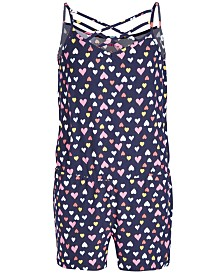 Epic Threads Big Girls Heart-Print Romper, Created for Macy's