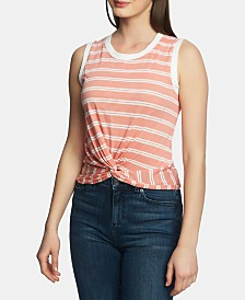 1.STATE Striped Twist-Hem Top