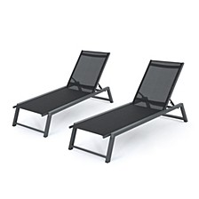 Myers Outdoor Chaise Lounge, Set of 2