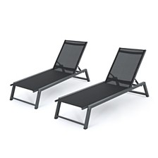 Myers Outdoor Chaise Lounge, Quick Ship (Set of 2)
