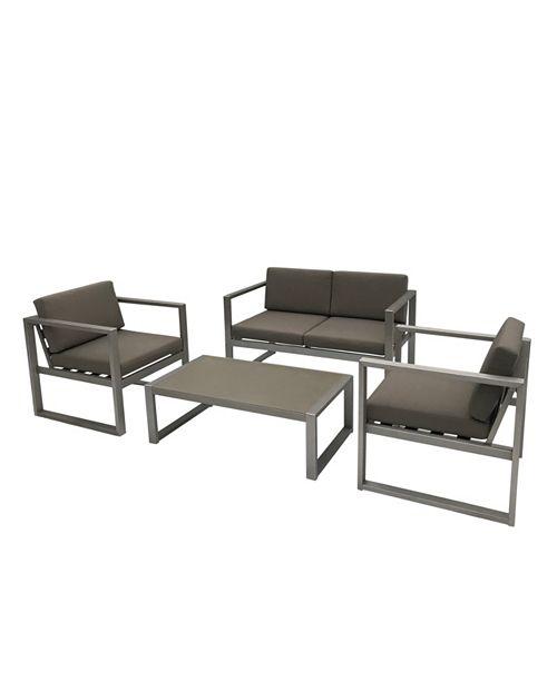 Noble House Navan Outdoor 4pc Seating Set