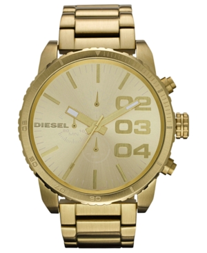 Diesel Watch, Chronograph Gold-Tone Stainless Steel Bracelet 51mm DZ4268