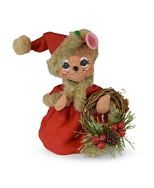 Annalee 6in Rustic Pine Wreath Mouse