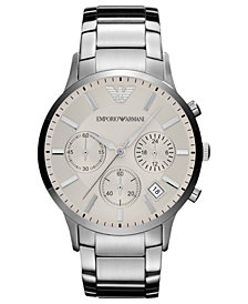 Emporio Armani Watch, Men's Chronograph Stainless Steel Bracelet 43mm AR2458