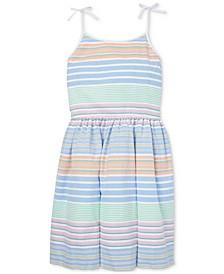Big Girls Striped Cotton Oxford Dress