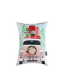 Sara B. Christmas Car Rectangle Decorative Pillow