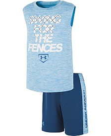 Under Armour Little Boys Swing For The Fences 2-Pc. Logo Tank & Shorts Set