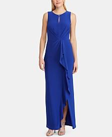 Lauren Ralph Lauren Ruched Jersey Gown