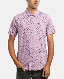 RVCA Men's Shake Along Slim Fit Spot Print Shirt