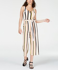 Crave Fame Juniors' Striped Jumpsuit