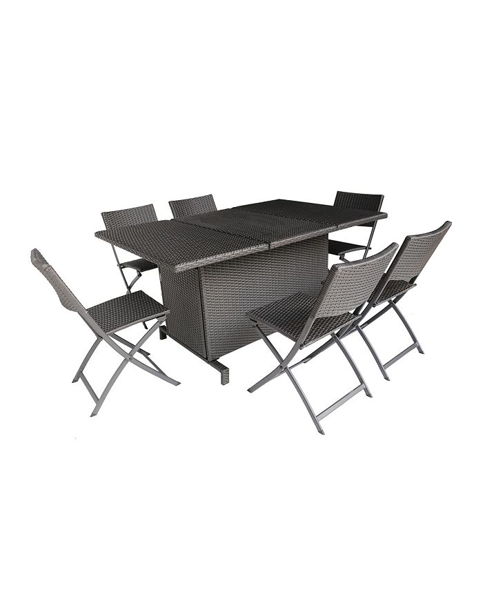 Noble House - Maldives Outdoor 7pc Dining Set, Quick Ship