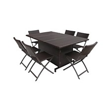 Maldives Outdoor 7pc Dining Set, Quick Ship