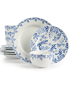 Martha Stewart Collection Nature Infused 12-Pc. Dinnerware Set, Service for 4, Created for Macy's