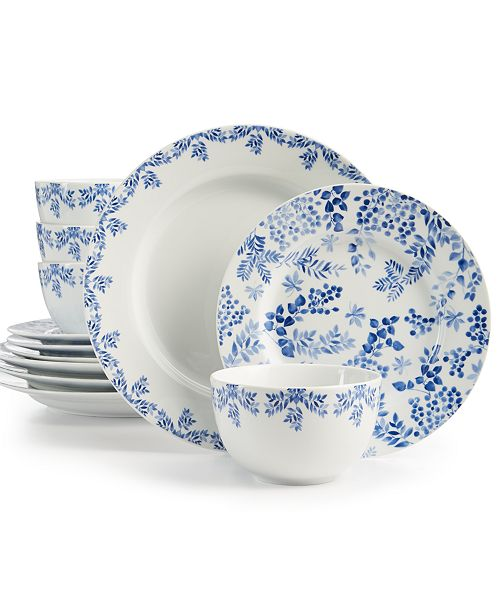 Martha Stewart Collection English Garden 12-Pc. Dinnerware Set, Service for 4, Created for Macy's