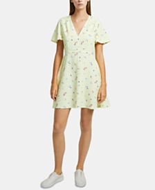 French Connection Frida Arimose Crepe Floral-Print Dress