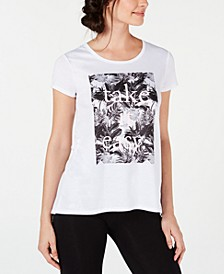 Take It Easy Graphic Split-Back T-Shirt, Created for Macy's