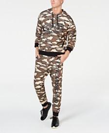 Love Moschino Men's Clouds Camo Hoodie