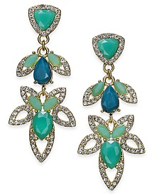 I.N.C. Crystal Double Drop Earrings, Created for Macy's
