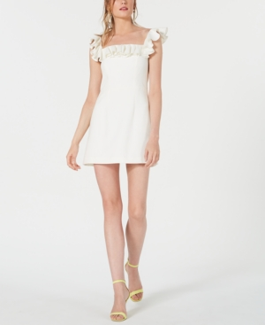 French Connection Dresses WHISPER RUFFLED OFF-THE-SHOULDER DRESS