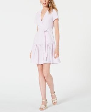 French Connection Dresses FAUX-WRAP DRESS
