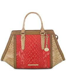 Brahmin Arden Candy Apple Carlisle Leather Satchel