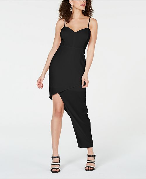 Material Girl Juniors' Asymmetrical-Hem Bodycon Dress, Created for Macy's
