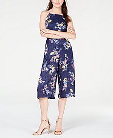 Material Girl Juniors' Printed Gaucho Jumpsuit, Created for Macy's