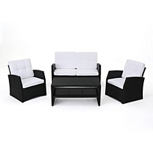 Sanger Outdoor 4pc Seating Set