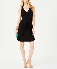 Taylor Ruffled V-Neck Dress
