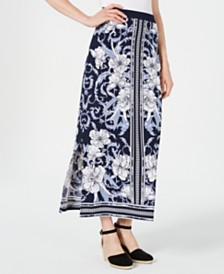 JM Collection Printed Maxi Skirt, Created for Macy's