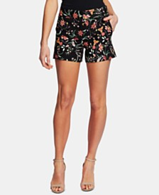 CeCe Floral-Print Shorts