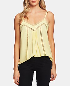1.STATE Lace-Trim Pintucked Top