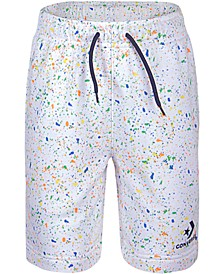 Big Boys Splatter-Print Drawstring Shorts