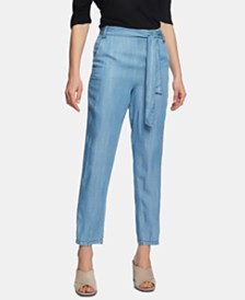 1.STATE Tie-Waist Tapered-Leg Pants
