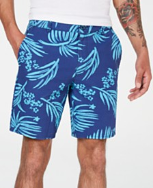 American Rag Men's Relaxed Fit Palm Print Shorts, Created for Macy's