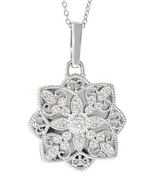 Paloma Diamond (1/6 ct. t.w.) Photo Locket Necklace in Sterling Silver