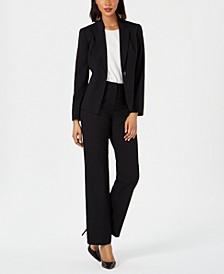 Petite Single-Button Pants Suit