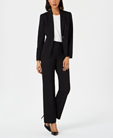 Le Suit Single-Button Pantsuit