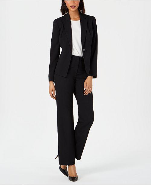 Le Suit Single-Button Pantsuit