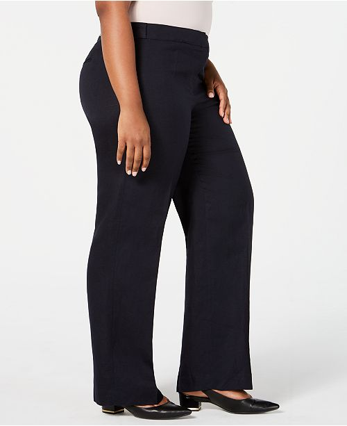 25e6d915acc Calvin Klein Plus Size Wide-Leg Pants   Reviews - Pants   Capris ...