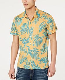 Men's Palm Print Shirt, Created for Macy's