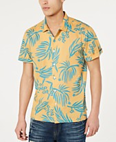 2ce7eebd1 American Rag Men's Palm Print Shirt, Created for Macy's