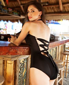 Krupa Couture Laced Back Lightly Lined One Piece