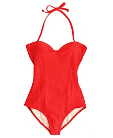 Krupa Couture Swim Show Stopper Laced Back Lightly Lined One Piece Swimsuit