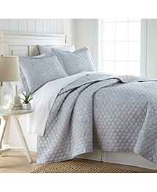 Forget Me Not Quilt and Sham Set, Full/Queen