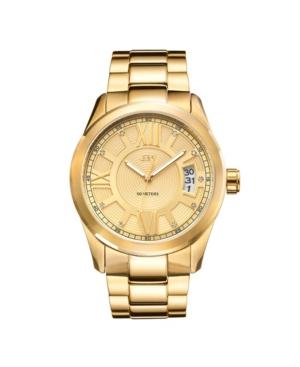 Men's Bond Diamond (1/10 ct.t.w.) 18k Gold Plated Stainless Steel Watch