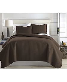 Southshore Fine Linens Oversized Solid 3 Piece Quilt and Sham Set, Twin/Long