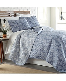 Perfect Paisley Lightweight Reversible Quilt and Sham Set, Twin/Long