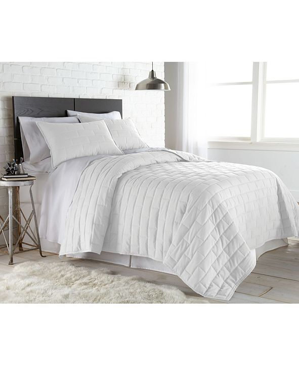 Southshore Fine Linens Lightweight Farmhouse 3-Piece Quilt Set