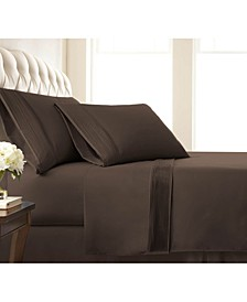 "Classy Pleated 21"" Extra deep, Pocket Sheet Set, Queen"